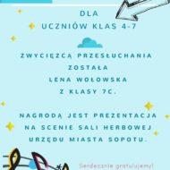 Więcej o: Gratulacje dla Lenki Wołowskiej